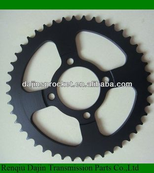 Dajin 1045 steel sprocket for motorcycle /motorcycle sprocket for honda wave 125
