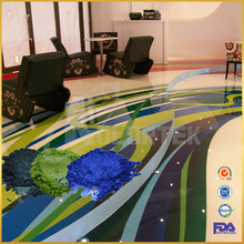 Professional 3d metallic epoxy flooring coating pigment manufacturer