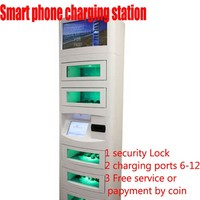 china made cellphone charging station with solar battery