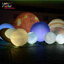Attractive lighting inflatable nine planets / Inflatable LED planet balloons for hanging
