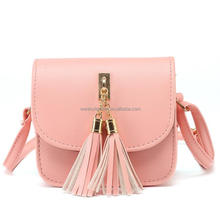 Wholesale 2017 New Fashion Small Chains Tassel Cell Phone Bag Messenger Bag Women's Handbag Leather Ladies Flap Shoulder Bag