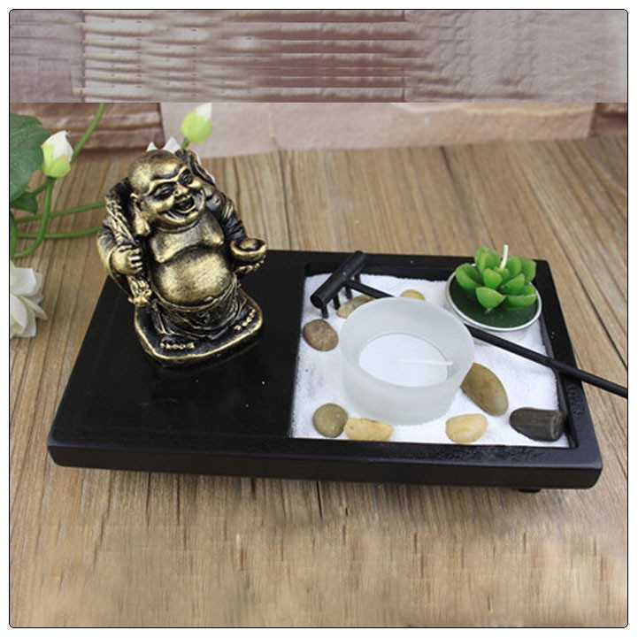 chinesisch laughing buddha zen garten antiken harz buddha statuen mini zen garten resin. Black Bedroom Furniture Sets. Home Design Ideas