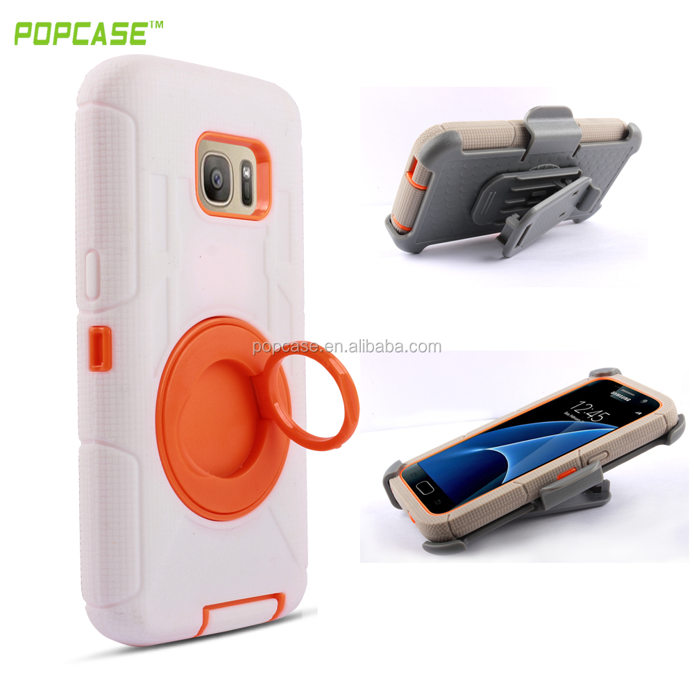 Protective Mobile Phone Case with Ring Holder for samsung s7 Case