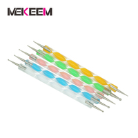 5pcs 2way Fashionable Nail Art Dot Pen