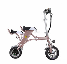 Max mileage 130KM Folding Electric Bicycle Bike Scooter with two seat design