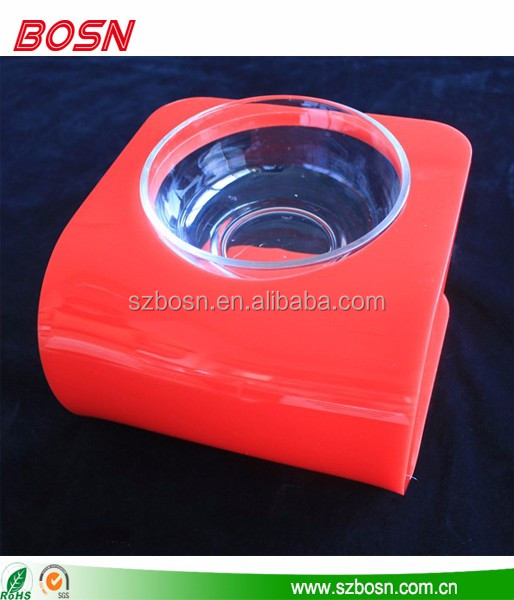 Manufactory cheap foster puppy supplies raised dog bowls for one pet