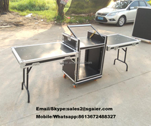 Aluminum dj flight case folding portable dj table top quality