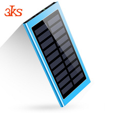 Outdoor Travel Waterproof Portable Solar Power Bank 6000mah Battery For Mobile Phone Charger