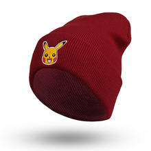 Embroidery Cartoon Pokemon Elf Pattern Knit Beanie Hat Cap
