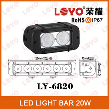 2015 LOYO Led light bar 4*4 offroad 20W single light bar reflector