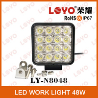 Factory design 48W LED work light auto parts for tractor truck 4000 lumen IP67 led work light