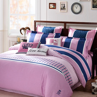 LOVO Pink love 100% Cotton sanding 4-Piece Bedding Sets,duvet sets ,duvet cover