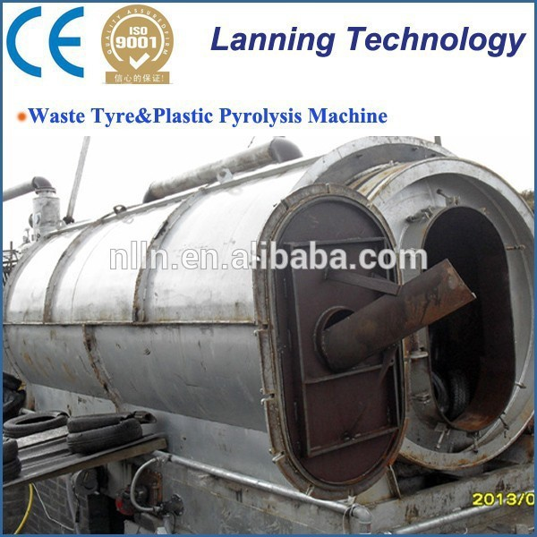 newest design high capacity waste plastic or tyre recycling machine in china