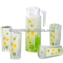 New product drinking water glass set colorful tea cups set