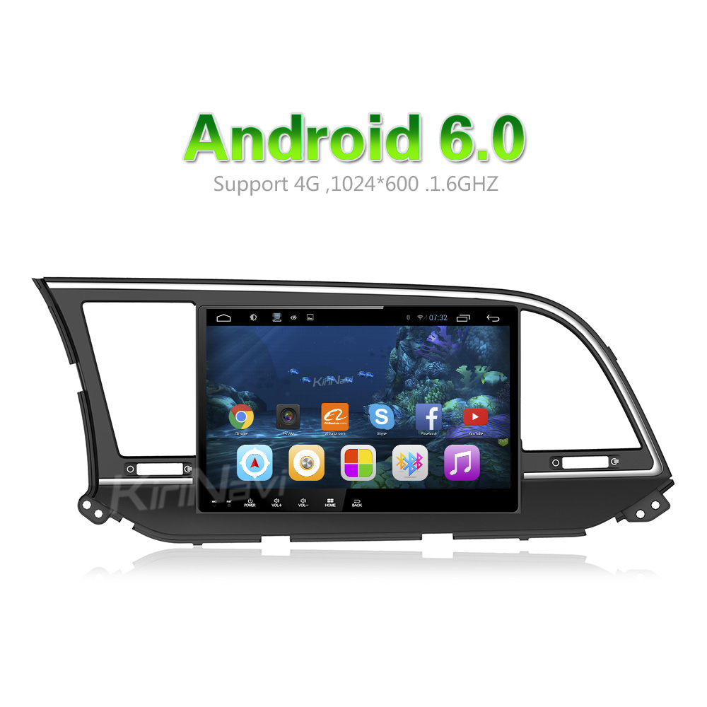 "KiriNavi WC-HE1016 10.2"" Android 6.0 car radio dvd for hyundai elantra oem radio 2016 + touch screen"