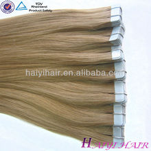 Large Stock Top Quality Virgin Hair indian remy tape hair extensions in Qingdao
