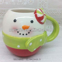 Novelty wholesale pottery for christmas decoration