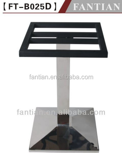 Fantian FT-B025D-2 stainless steel coffee table leg base square for metal dining table