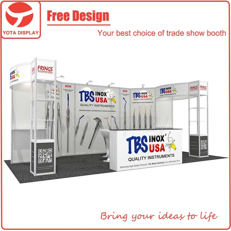 Yota Offer TBS Special 3x6 Stand Exibition Booths with Light Weight Materials