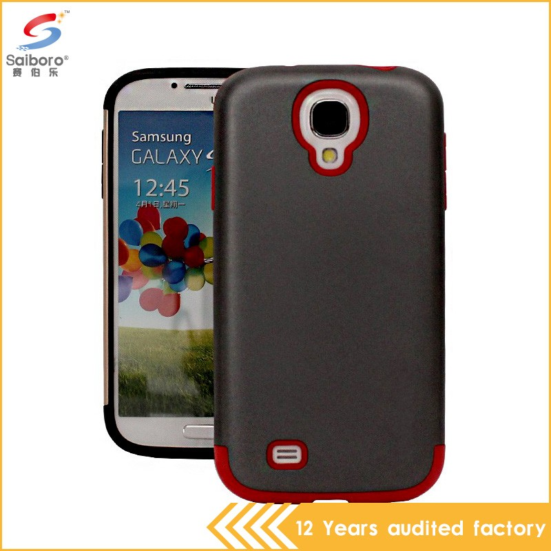 Multi-color/style big discount tpu pc armor case for samsung s4