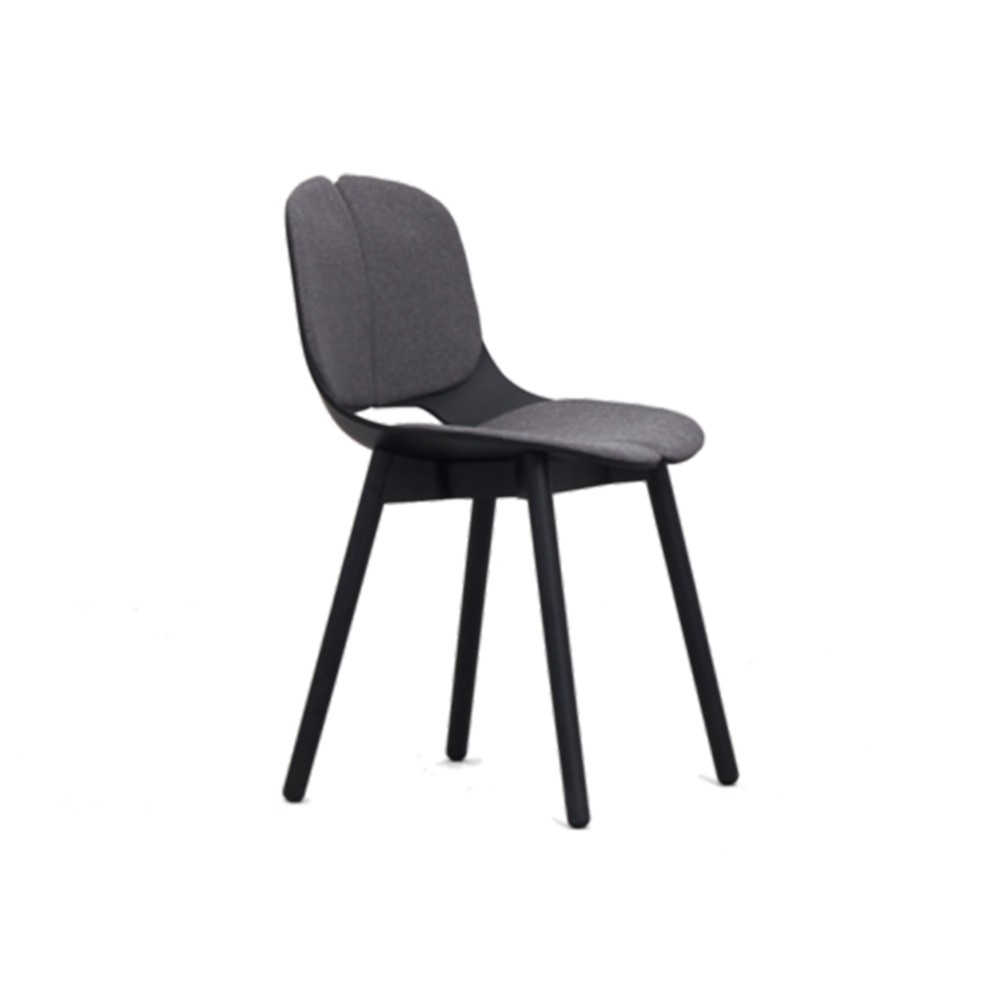 Modern Design Solid Luxury Wood Legs Round Back Dining Chair