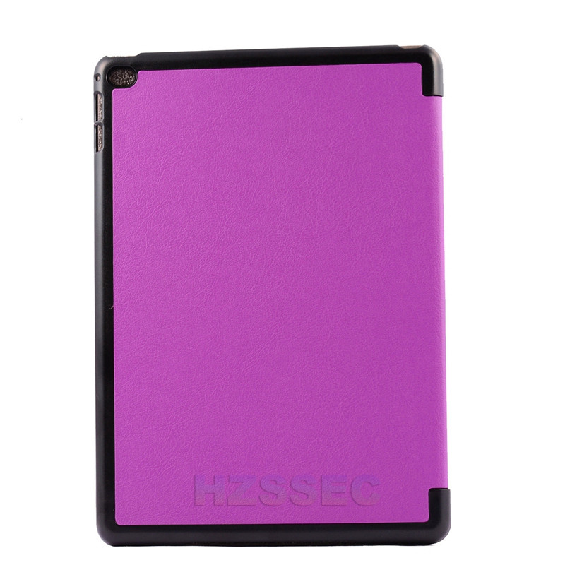 360 Degree Rotating Stand Purple Case Ultra Slim Leather Smart Tablet Cover For Ipad Air2 9.7inch
