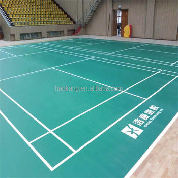 UV Resistance BWF Badminton Court Mat with 4.0 - 7.0 mm
