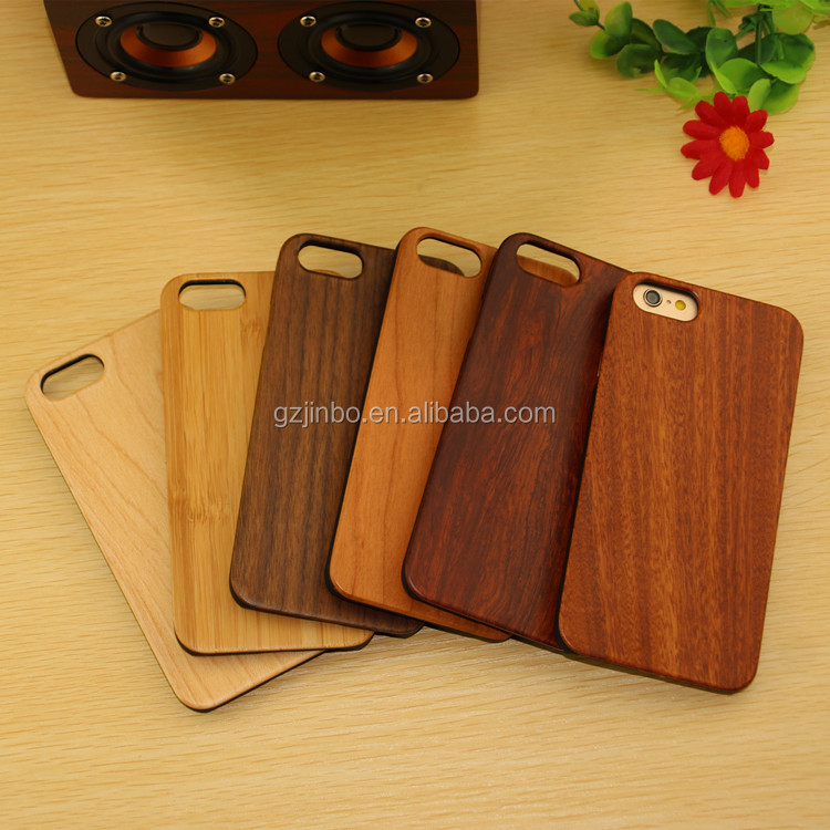 mobile phone accessories,real solid wooden phone case for Iphone plastic raw material for iphone 7