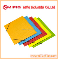 PP office stationery document filing a4 size flap plastic file folder with elastic band closure