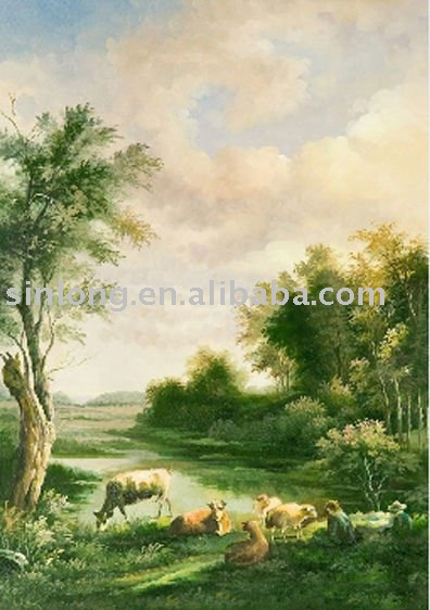 high-quality handicraft painting scenery picture