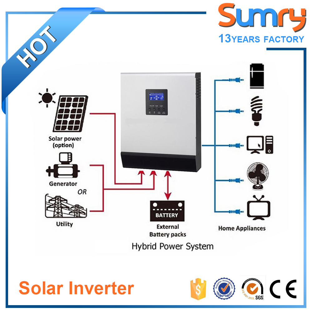 High frequency inverter 48v 220v 5000va solar kit dc ac converter for home