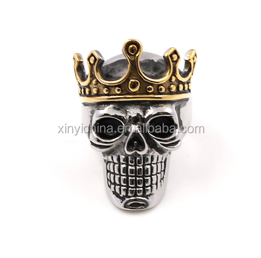 Crown skull ring for wholesale