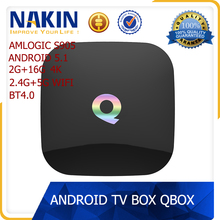 Smart Q-BOX Amlogic s905 android 5.1 2.4G/5.8G wifi kodi ott tv box