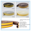 EPDM foam rubber protective seal strip with gluing layer for door and windows