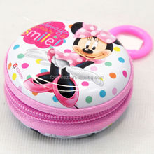 lovely mini design with zipper coin saving metal tin wallet