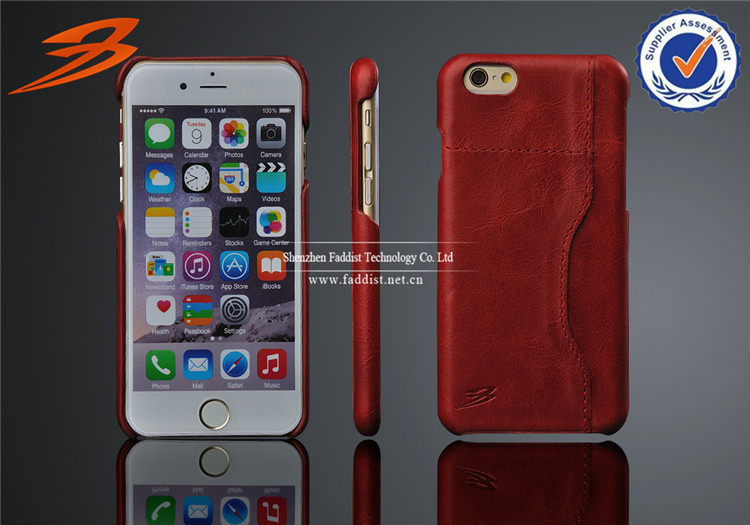 china wholesale new product for apple iphone 6 with 5.5 inch size, Real leather cover case for iphone 6 plus