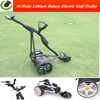 Protable Folding Trolley Electric Powered Trolley Battery Powered Golf Trolley