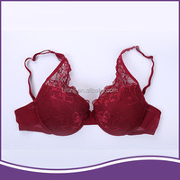 Factory discounting fancy stylish red push up lace sexy image girl bra