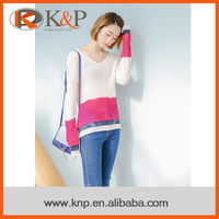 Oline Shopping Newest Style Cashmere Knitting Sweater For Ladies