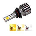 Auto Lighting 6000k 3000k 4300k  Dual Color LED Headlight 880 881 COB Bulb Kit LED Fog Lamp Light Bulb
