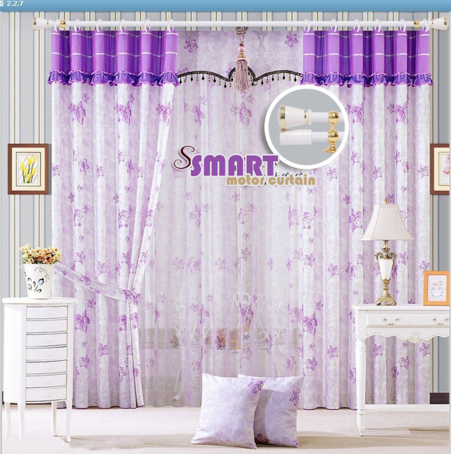 Smart home technology motorized curtain dual track