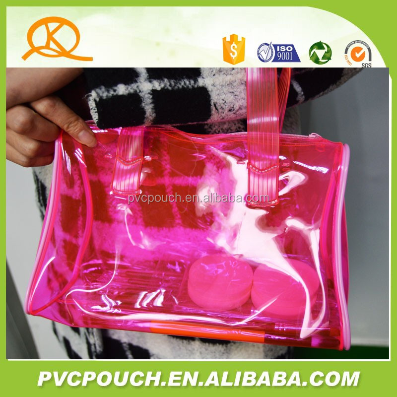 Cheap custom PVC Tote Shoulder Plastic Bag beach Bag
