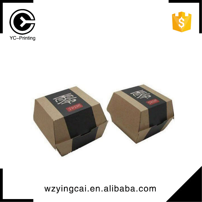 Hamburger food burger box packaging paper box