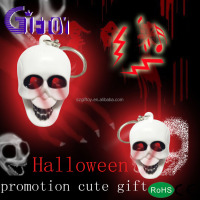 GT-0A03 Promotional Skull Shape Mini Led Keychain AS GIFT