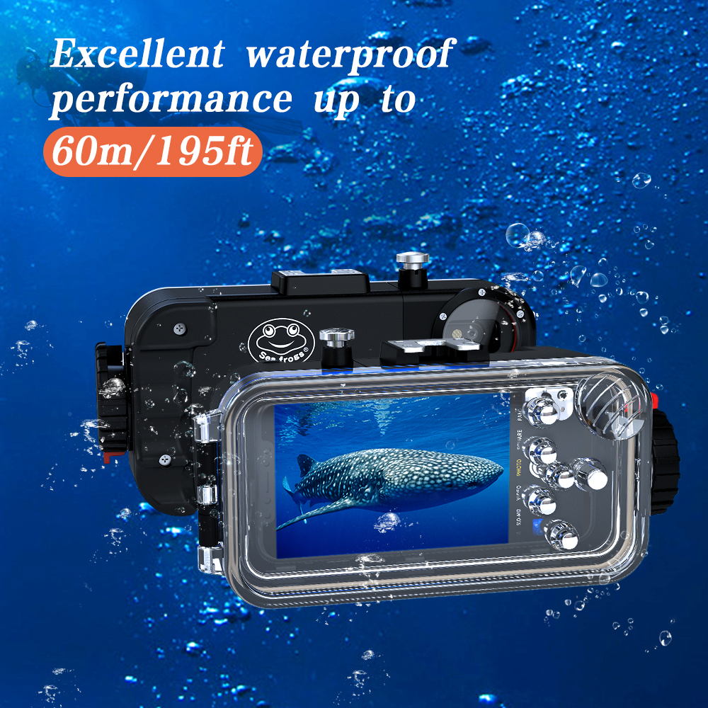 Smartphone X Waterproof Photography Housing for iphone X &32mm fisheye