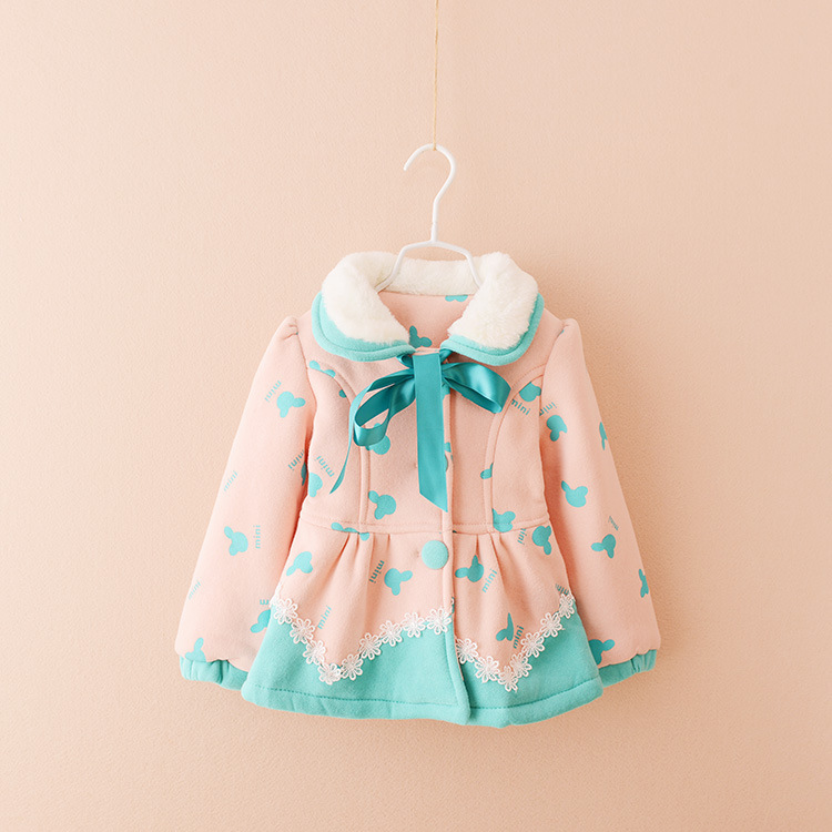 C83632A 2014 winter new design casual woolen girls' coat,woolen fashion kid clothes