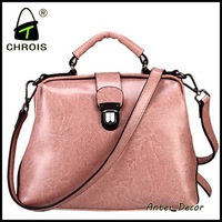 Colorful women genuine leather messenger bag tote bag and genuine leather bag
