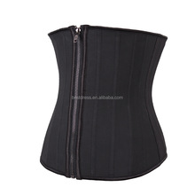 walson Sexy latex waist slimming 25 steel boned cincher corset zip
