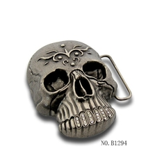 fashion skull buckle for fashion belt accessoriers