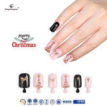 Fengshangmei christmas nail tips new design 3d artificial nails professional wholesale false nails